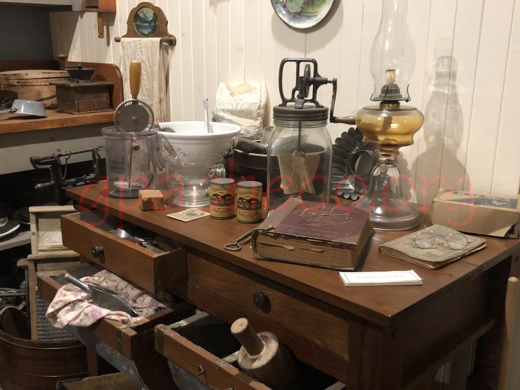 The kitchen display at the Tulare Historical Museum