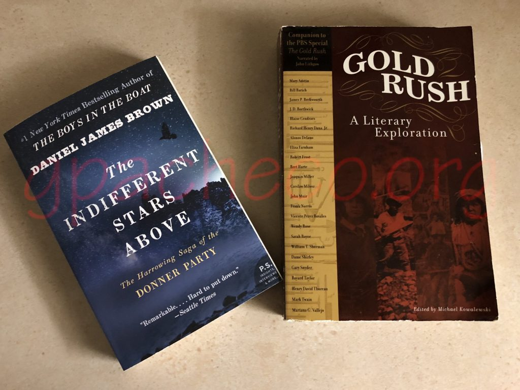 The books I purchased: The Indifferent Stars Above and Gold Rush: A Literary Exploration.