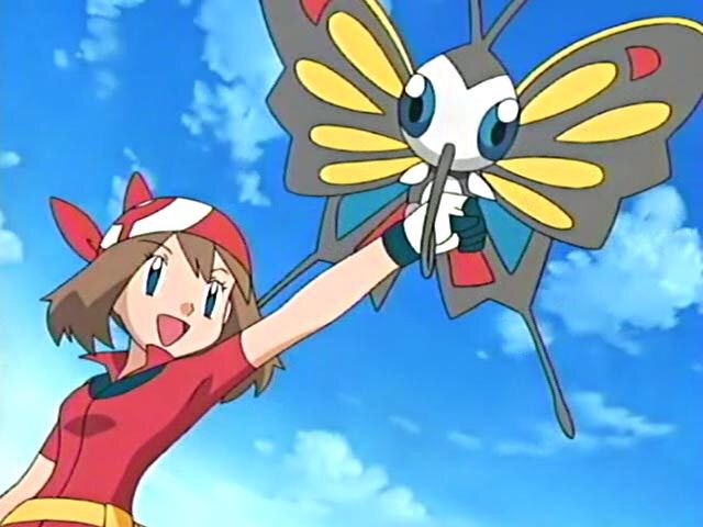 May / Haruka, Ash's traveling companion and Coordinator from Hoenn.