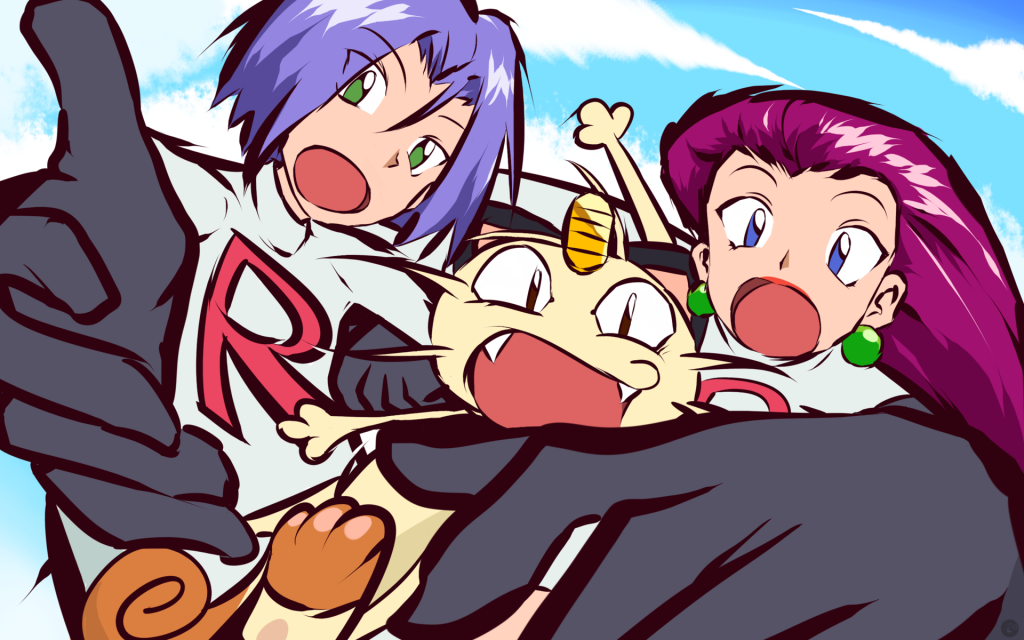 James, Meowth, and Jessie of Team Rocket