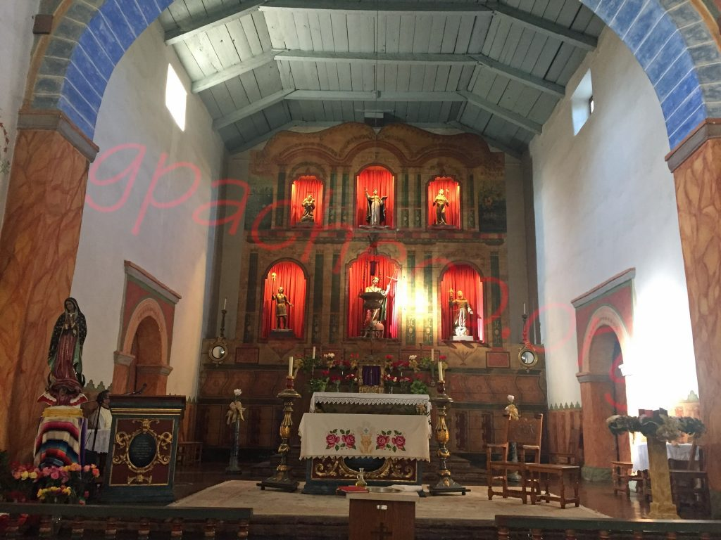 The altar of San Juan Bautista