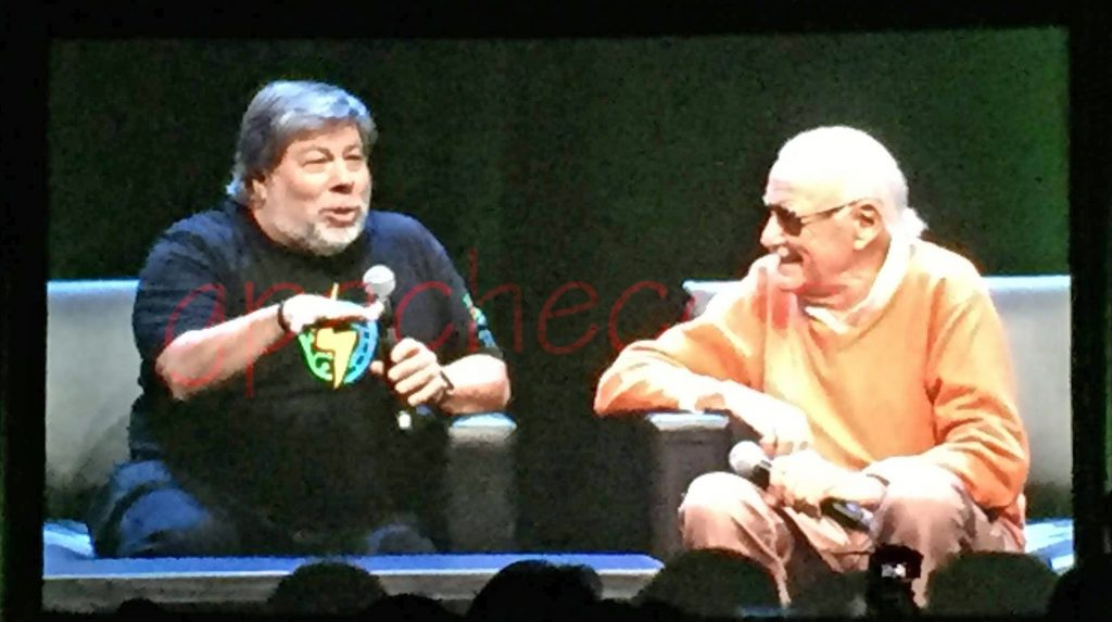 Steve Wozniak and Stan Lee (RIP) at 2016 SVCC
