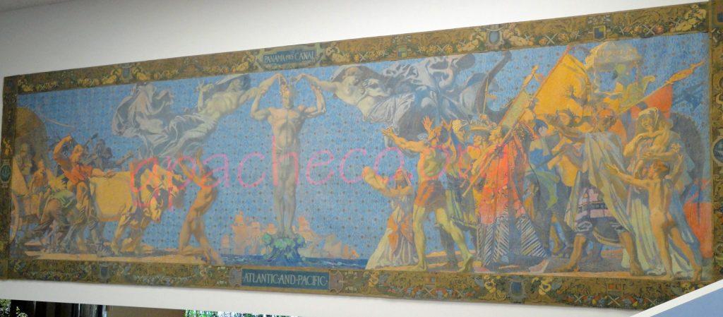 Atlantic and Pacific mural