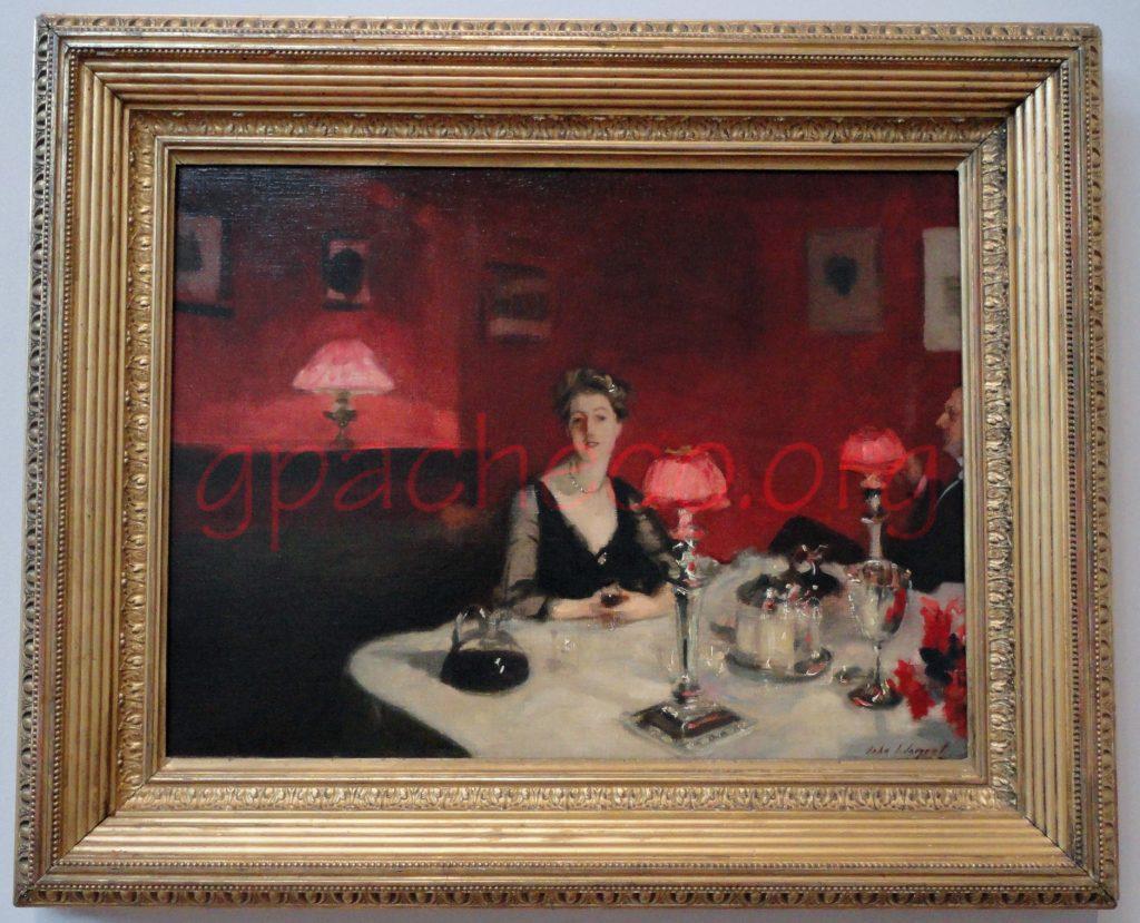 Le verre de porto (A Dinner Table at Night)