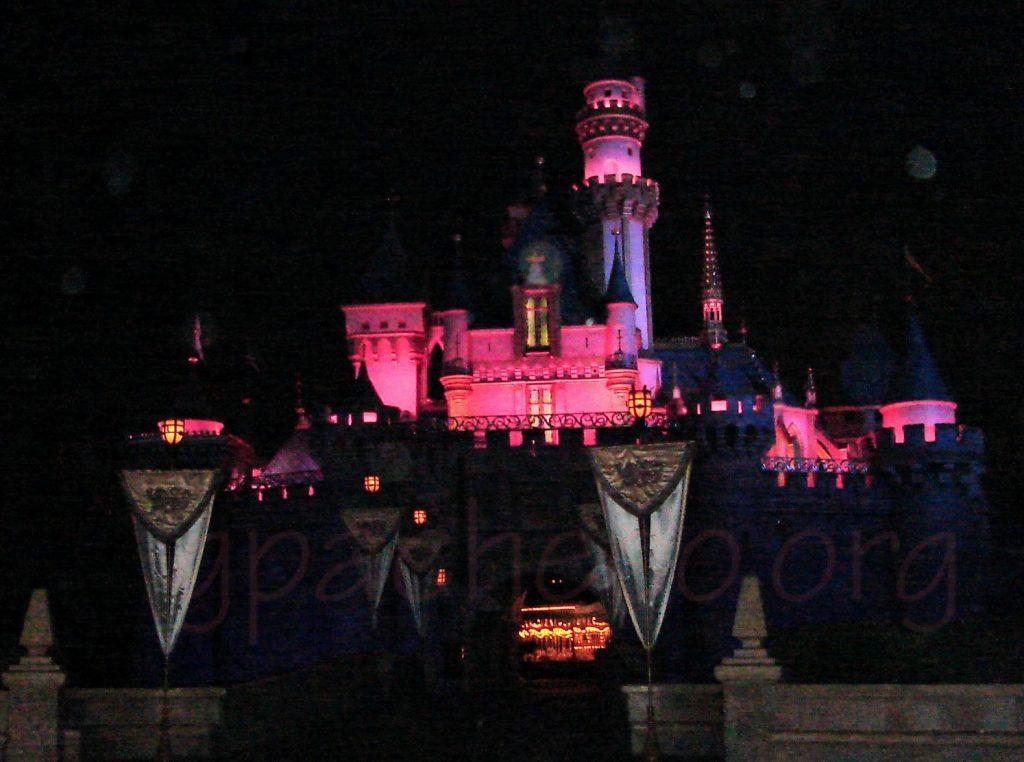 Sleeping Beauty Castle at night, September 2009